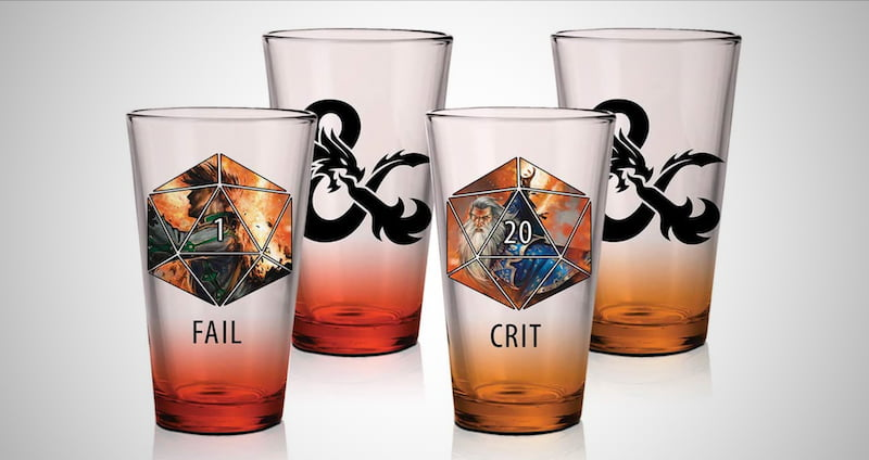 DND Pint Glass