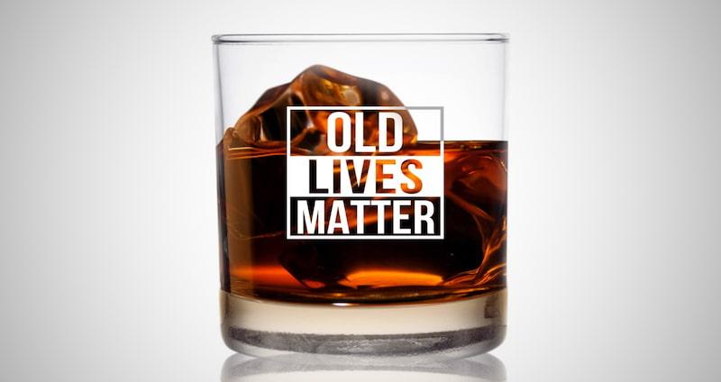 Old Lives Matter Whiskey Glass