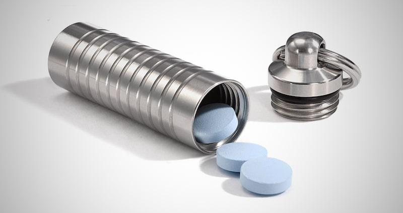 Cielo Slim Pill Storage Keychain