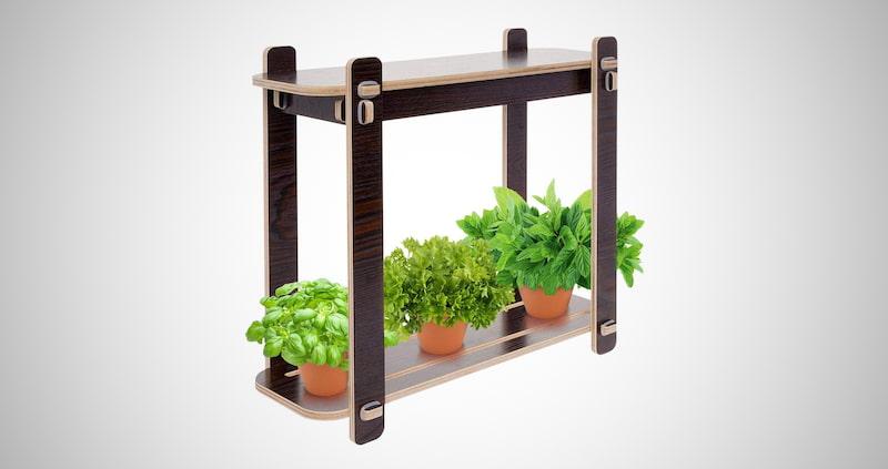 Wood Finish LED Indoor Garden