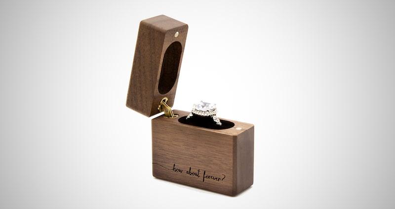Engraved Ring Box