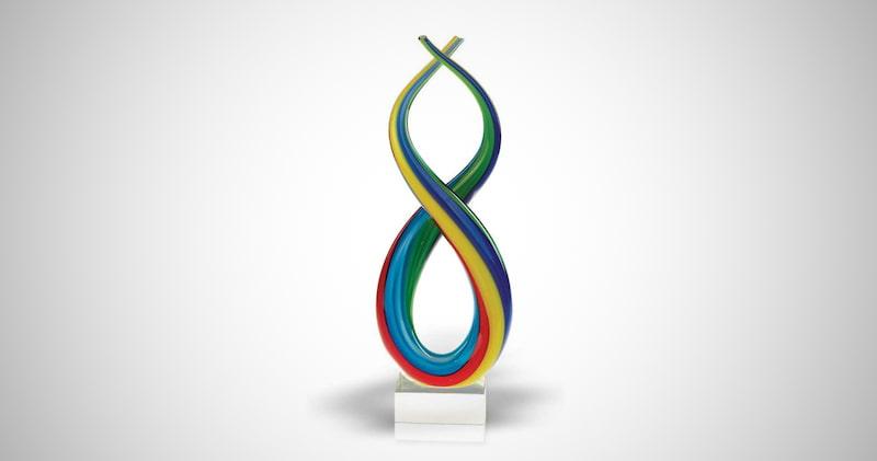 Badash Spectrum Murano-Style Centerpiece