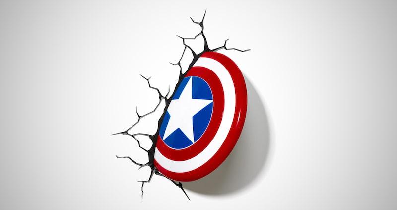 Avengers Captain America 3D Deco