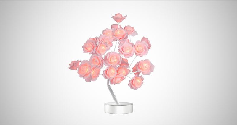 Table Rose Flower Lamp