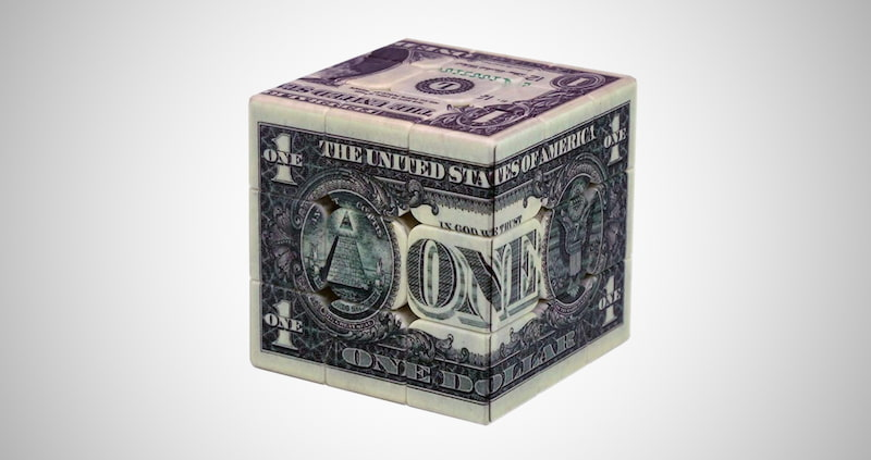 One-Dollar Notes Magic Cube