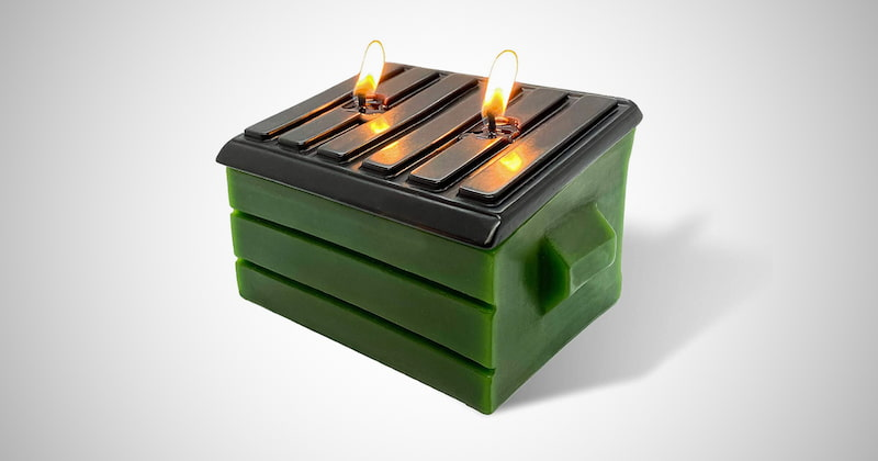 Large Dumpster Fire Candle