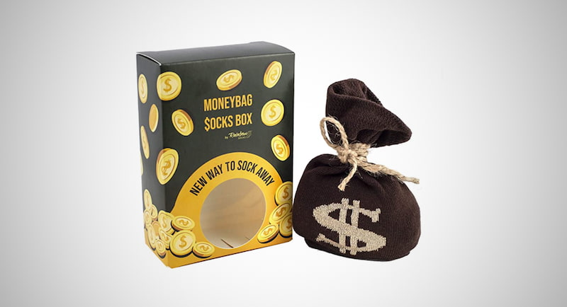 Funny Moneybag Socks in a Box