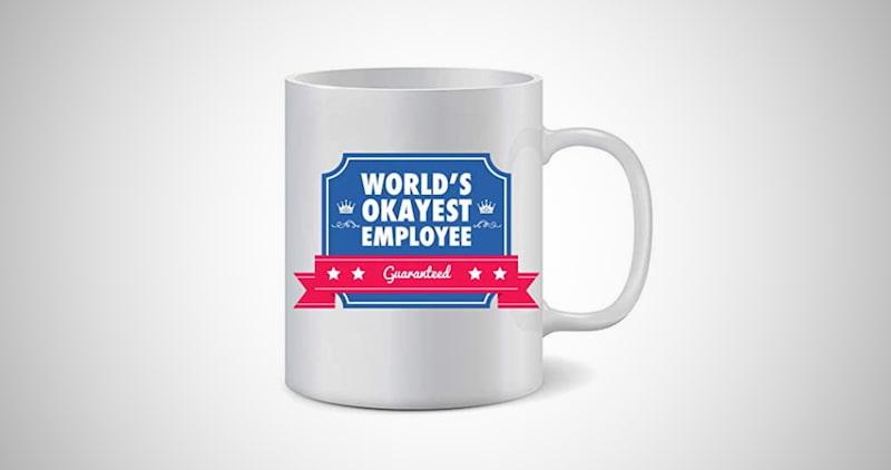 Worlds Okayest Employee Mug