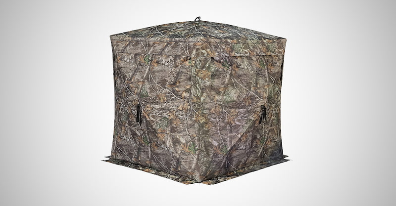 See-Through Hunting Ground Blind