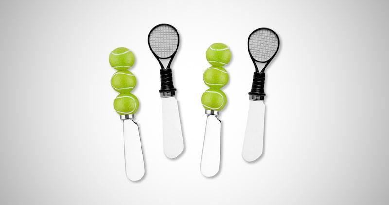 Tennis Resin Cheese Spreaders Set