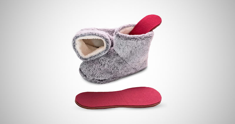 Snook-Ease Microwavable Heated Slippers