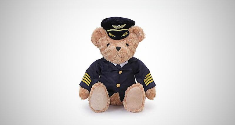 Captain Teddy Pilot Bear