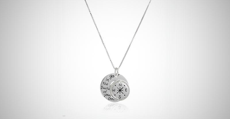 Compass Pendant Necklace