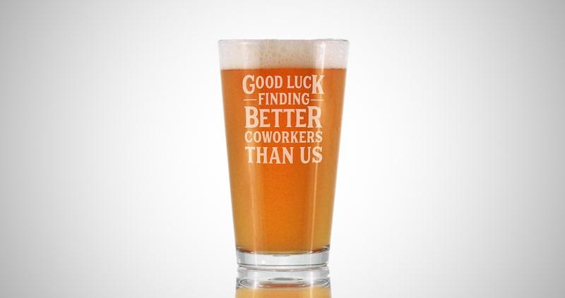 Farewell Beer Glass