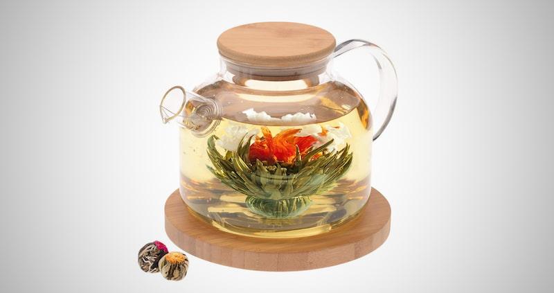 Teabloom Stovetop Safe Glass Teapot