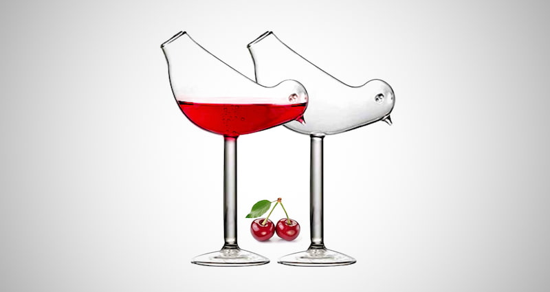 Bird Cocktail Glass
