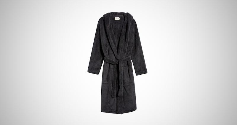 Gravity Weighted Collar Fleece Robe