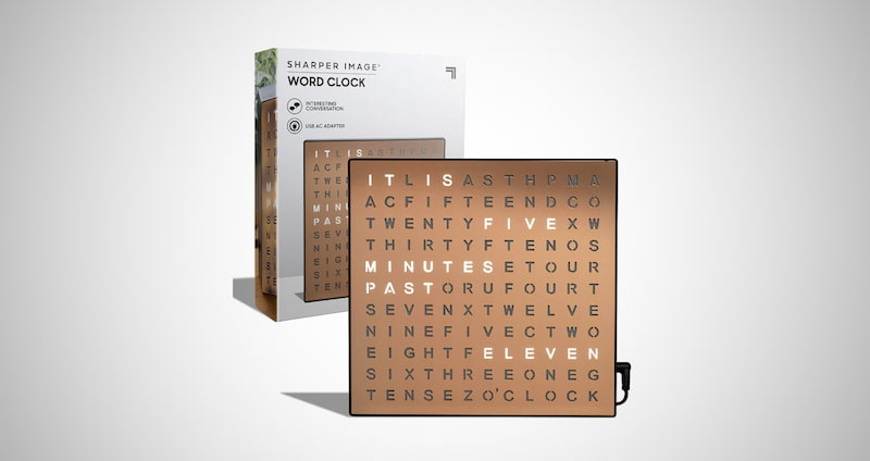 Light Up Electronic Word Clock