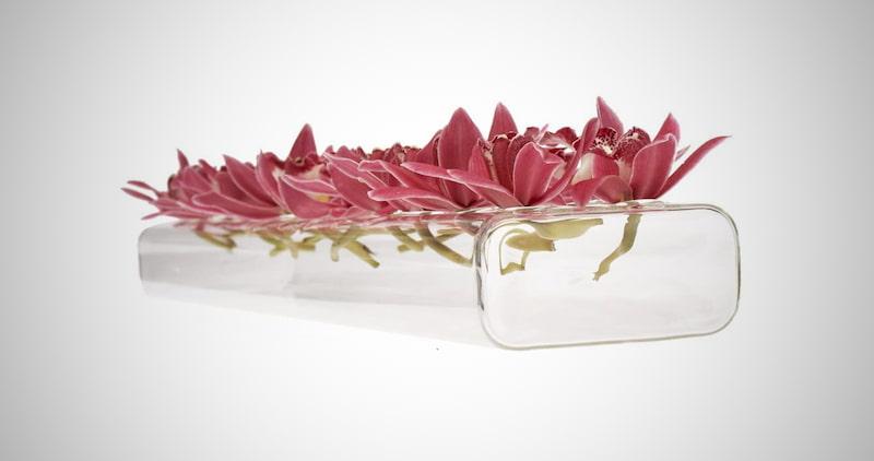 Chive 'Flute' Glass Flower Vase