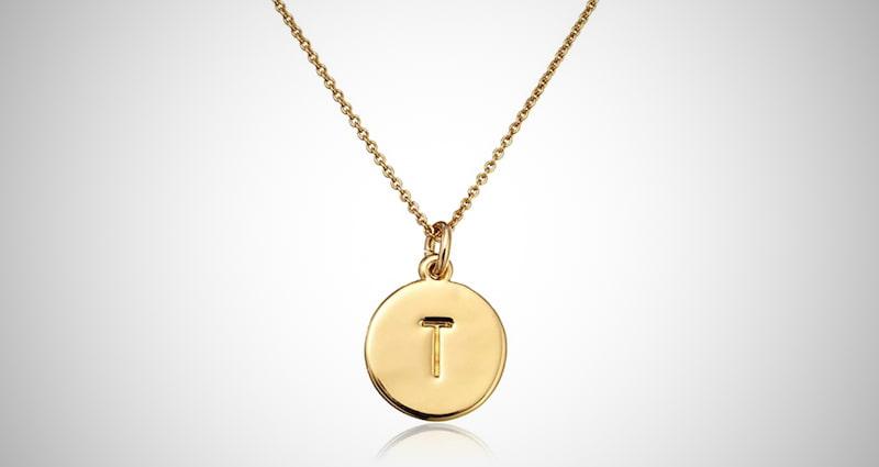 Gold-Tone Alphabet Pendant Necklace