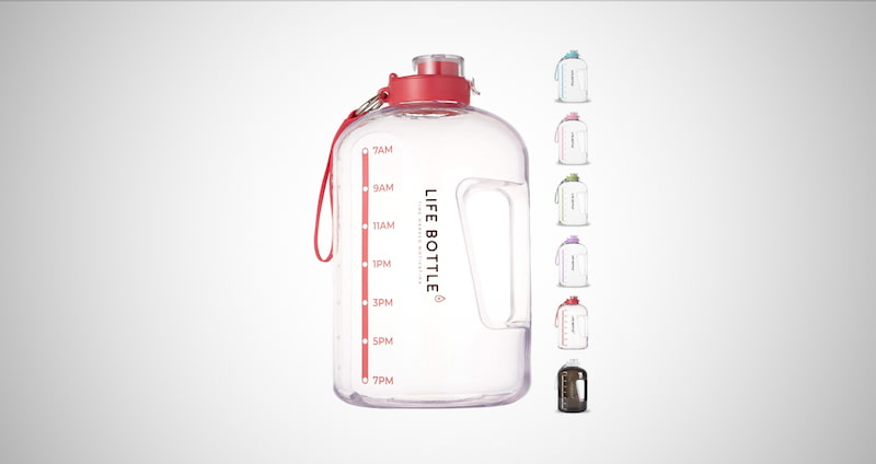 Time Marked Water Bottle