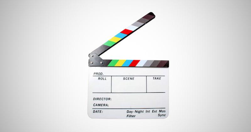 Plastic Director's Film Clapboard