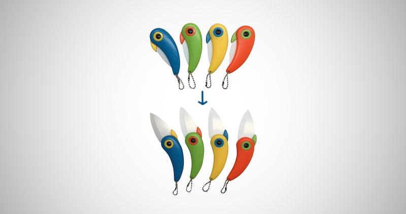Unique Bird Folding Vegetable Knives