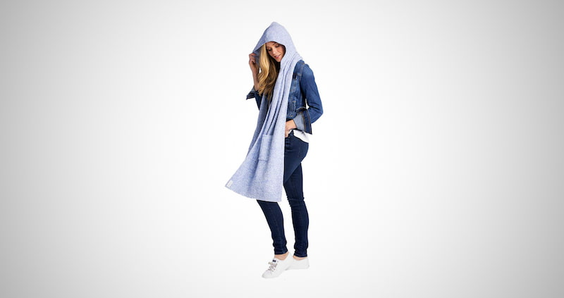 Softies Marshmallow Hooded Scarf