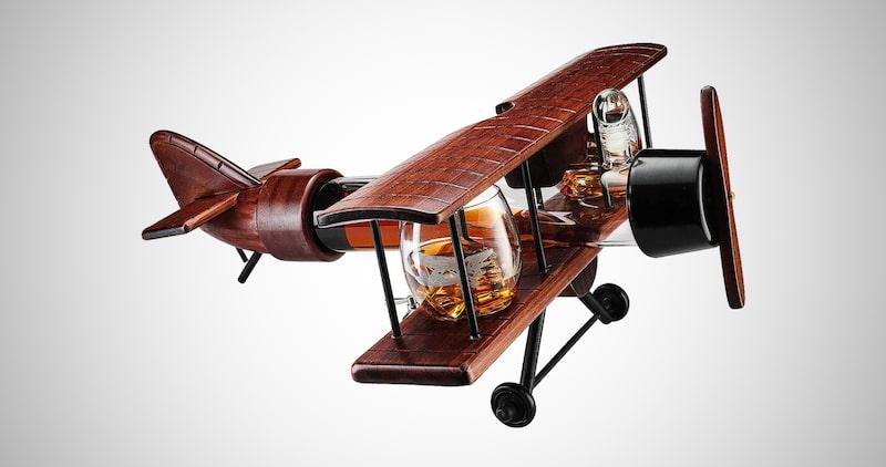 Airplane Whiskey Decanter Set
