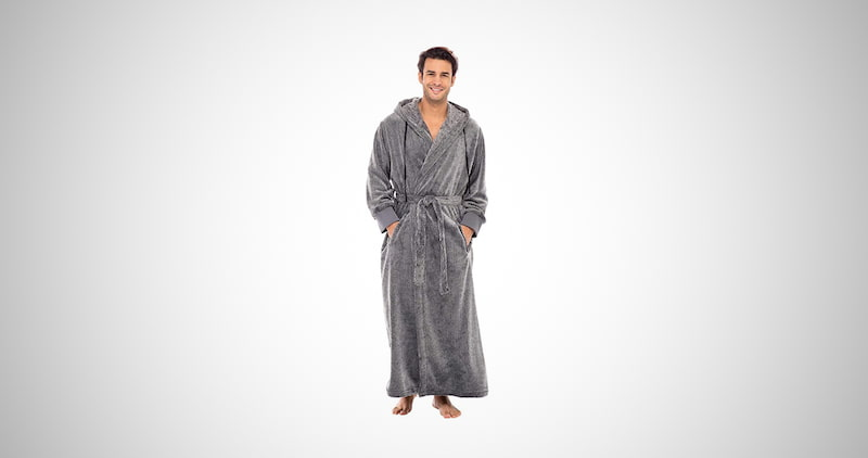 Men's Warm Fleece Robe