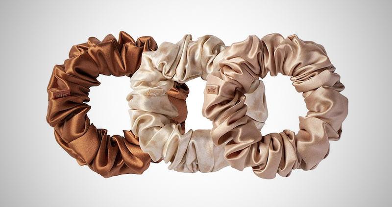 Slip Silk Rose Scrunchies