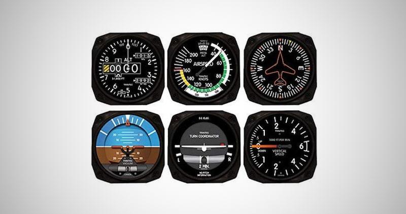Classic Aviation Coaster Instrument Sets
