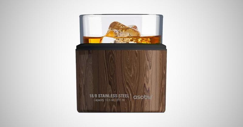 Asobu Insulated Whiskey Glass & Sleeve