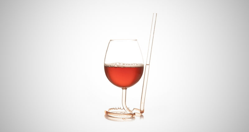 The Wine Glass with a Straw
