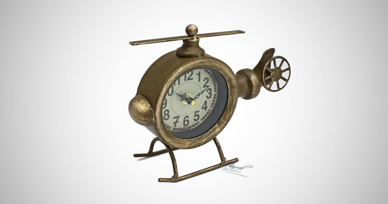 ArtFuzz Helicopter Table Clock