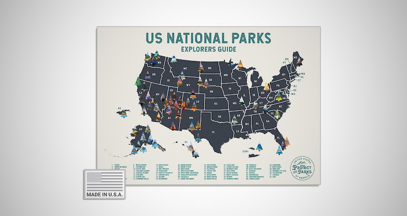 USA National Park Scratch Off Map