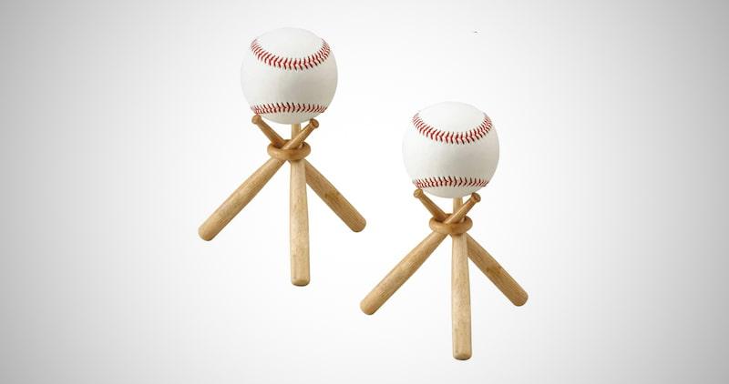 Wooden Baseball Stand