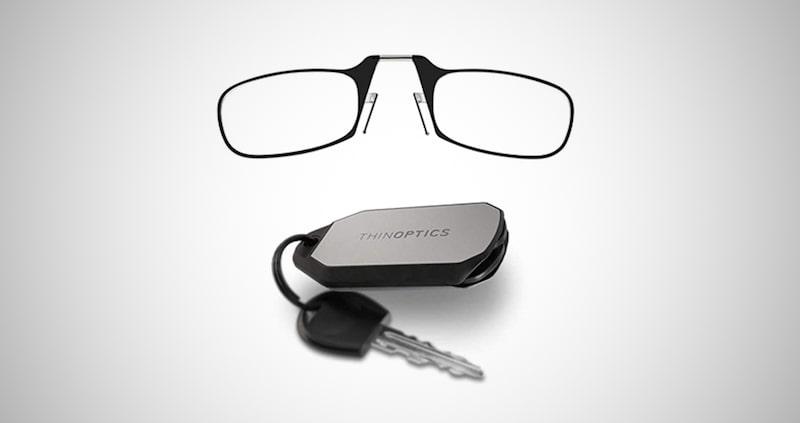 ThinOptics Keychain Case + Reading Glasses