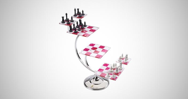 Tridimensional Chess Set