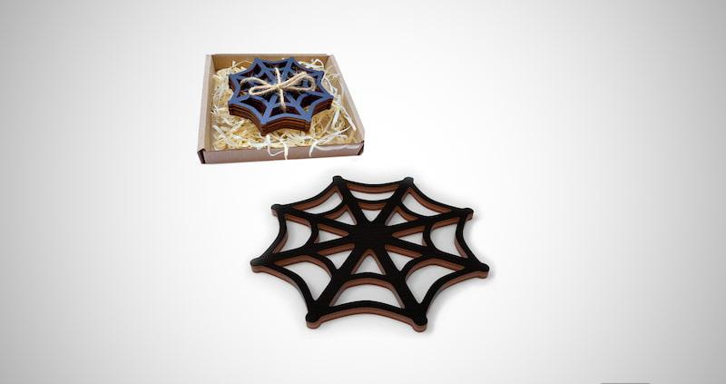 Black Spider Web Coasters