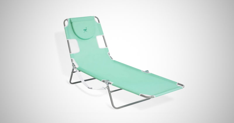 Ostrich Chaise Lounge