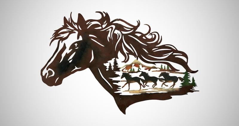Horse Shadow Wall Art