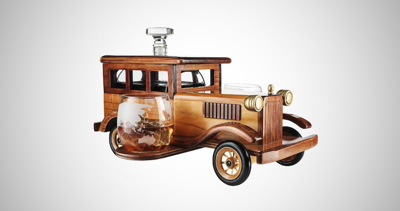Old Fashioned Car Whiskey Decanter