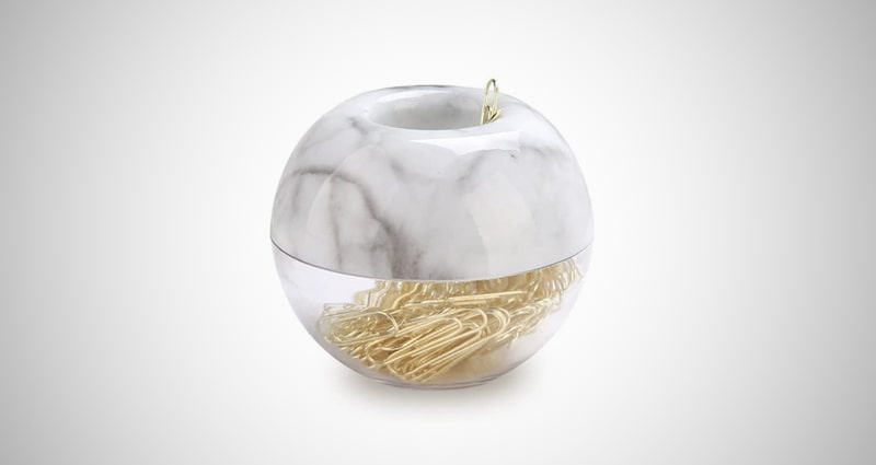 MultiBey Gold Paper Clips Holder