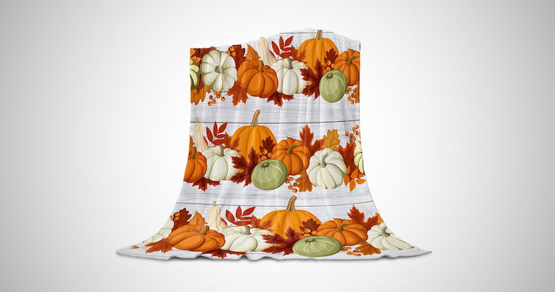 Thanksgiving Flannel Fleece Blanket