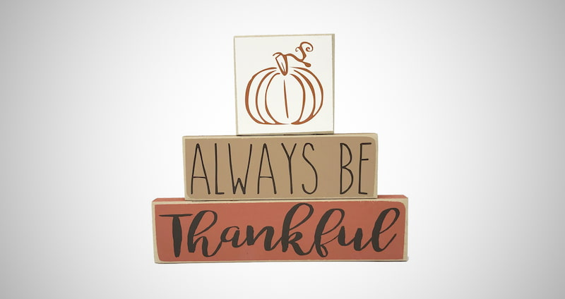 Always Be Thankful Pumpkin Sign