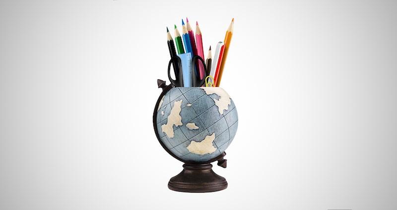 Globe Pen Pencil Holder