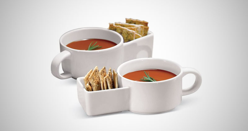 Soup and Cracker Mug