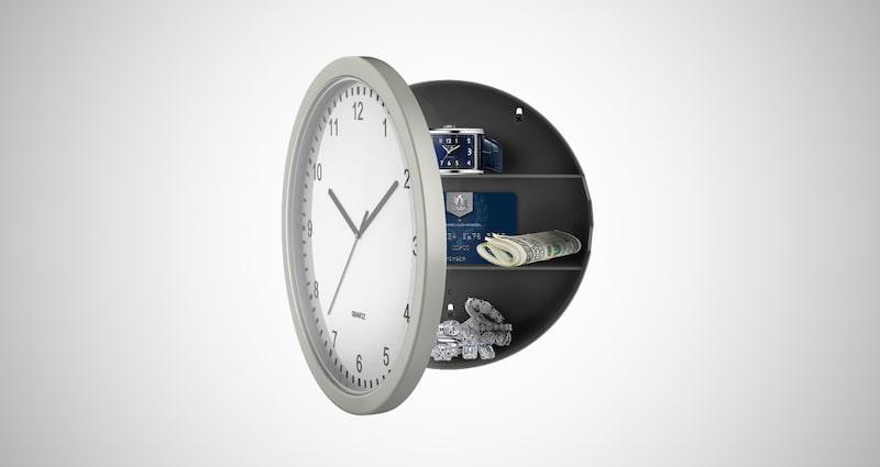 Wall Clock with Hidden Safe