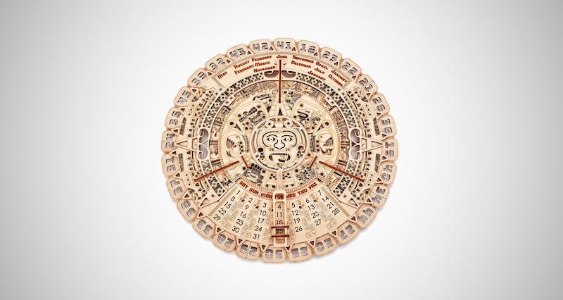 Wood Trick Mayan Wall Calendar
